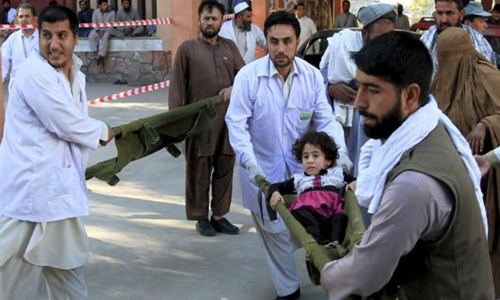 26th Oct.`15: Injured people were brought to a hospital in Jalalabad, Afghanistan