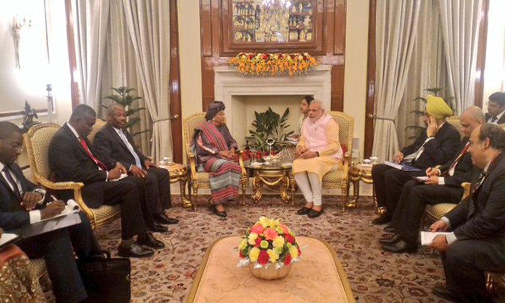Delhi, 2 Nov 2015: A focus on the future with Burundi as PM Narendra Modi meets Vice President Gaston Sindimwo IAFS