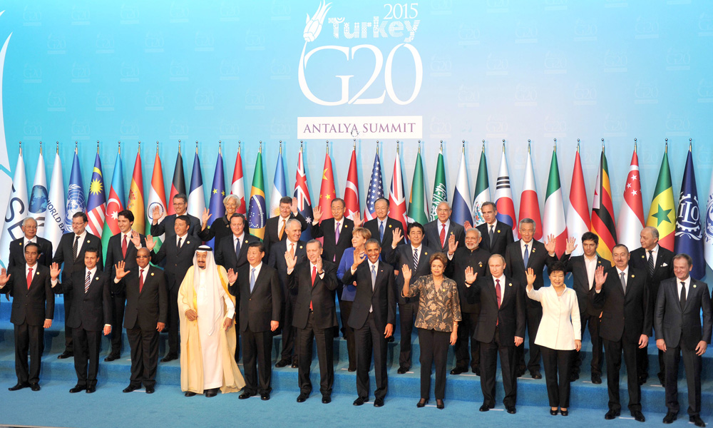 Turkey: 16 Nov 2015: PM Narendra Modi with other Leaders in a family photograph, at the G20 Summit 2015, in on November 15, 2015.