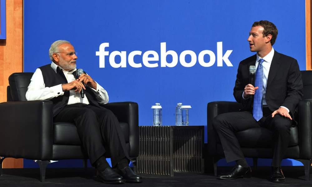San Jose: 27 Sept 2015:PM, Narendra Modi and the Facebook Chairman and CEO, Mr. Mark Zuckerberg at Townhall Q&A session, at Facebook HQ.
