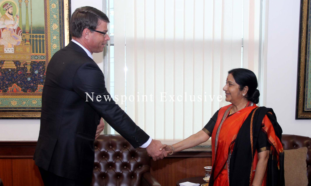 New Delhi,13th Jan 2016:MEA Meeting with Mr Patrick Suckling, Australian High Commissioner?.