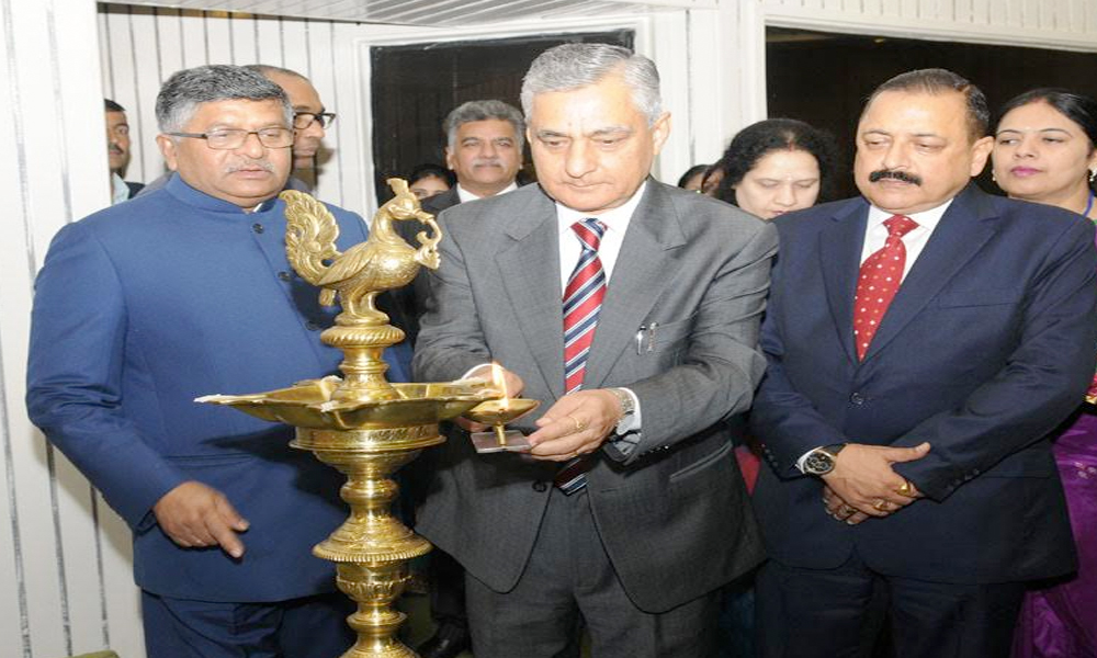Delhi, 26 Nov. 16: Chief Justice of India Justice T.S. Thakur lighting the lamp to inaugurate the All India Conference of Central Administrative Tribunal ,also seen Union Minister Law & Justice Ravi Shankar Prasad.