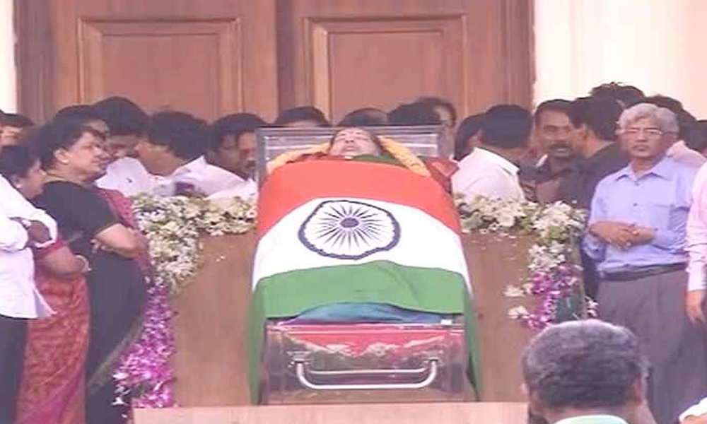 Chennai, 6th Dec 16:  Jayalalithaa Jayaram, `Iron Lady` of Tamil Nadu, dies at 68