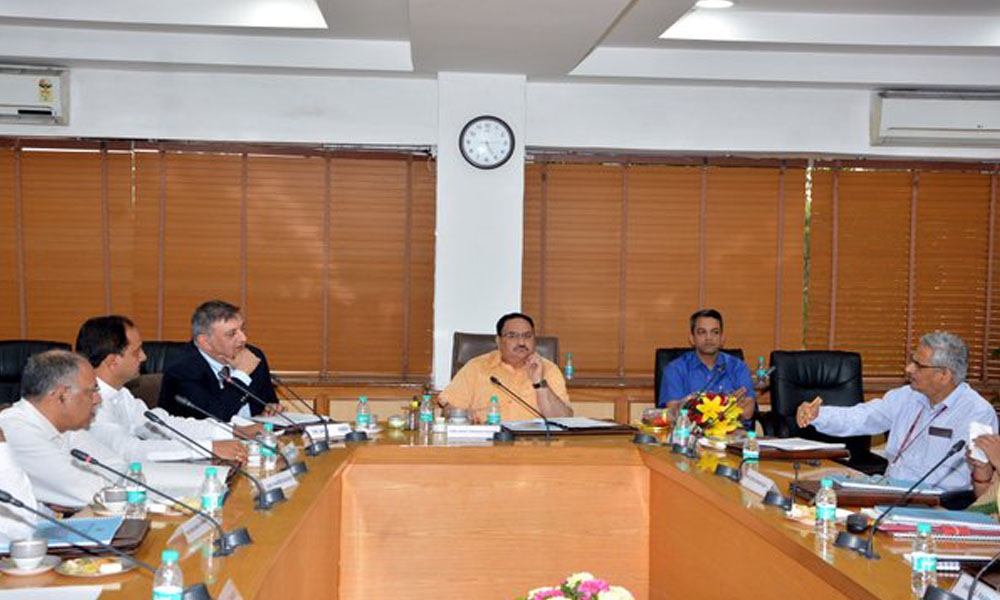 Delhi, 1st April 2016: Union Health Minister JP Nadda presided over 1st Governing Body meeting of AIIMS Jodhpur, yesterday. Emphasised on quality of healthcare.