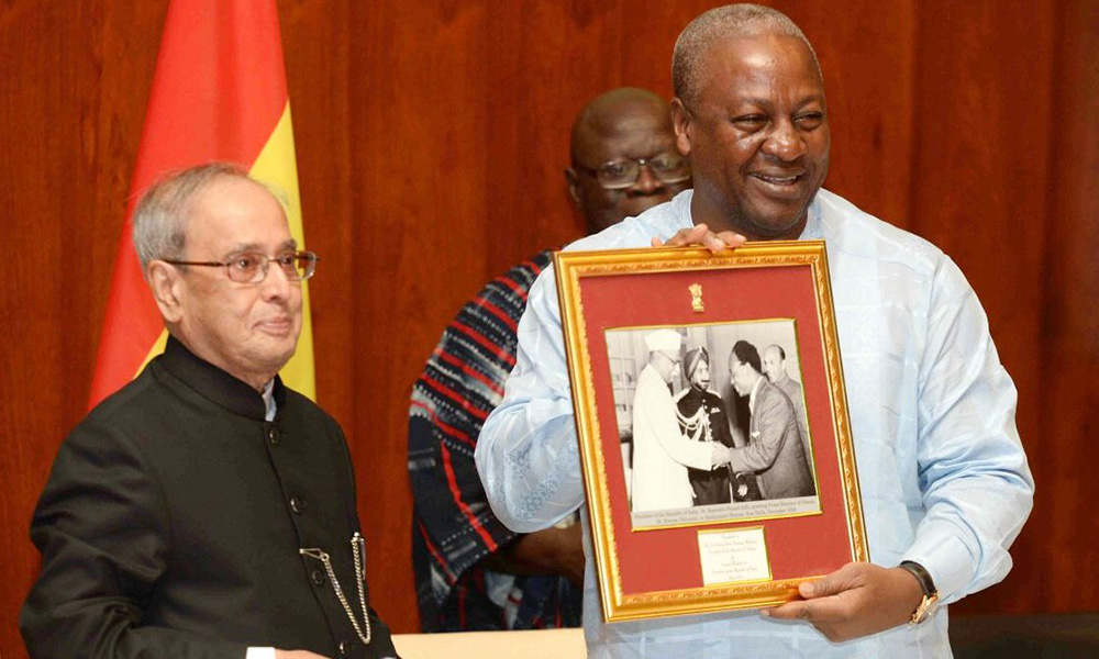 South Africa, 13 June 2016: President Pranab Mukherjee at State Banquet hosted by his Ghanaian counterpart JD Mahama