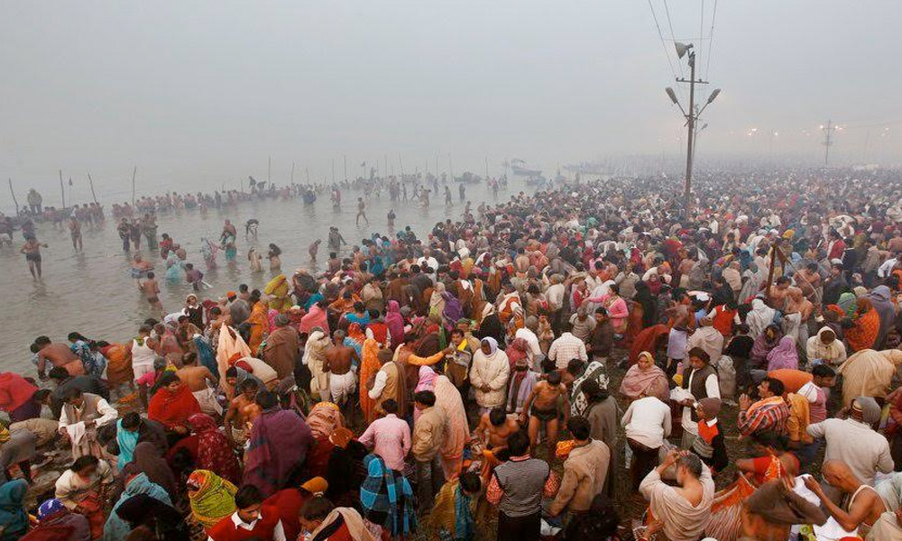 Uttar Pradesh, 12th Jan.2017: Month-long MaghMela festival begins at Sangam in Allahabad.