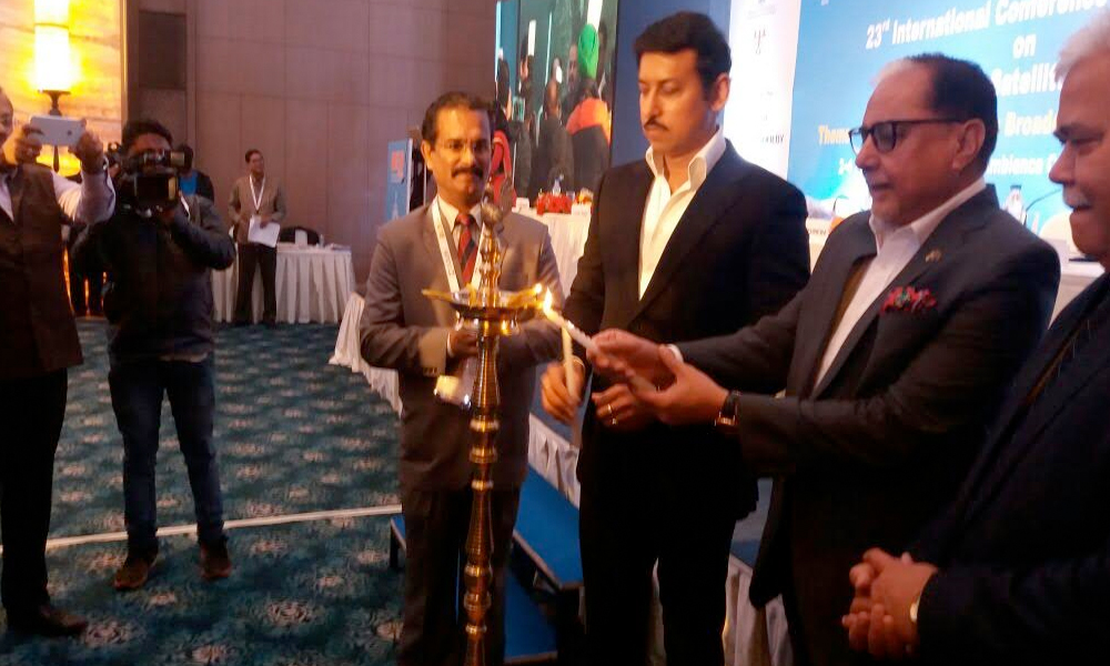 Delhi, 2nd Feb.2017: Rajyavardhan Rathore inaugurates 23rd International conference & exhibition on terrestrial & satellite broadcasting