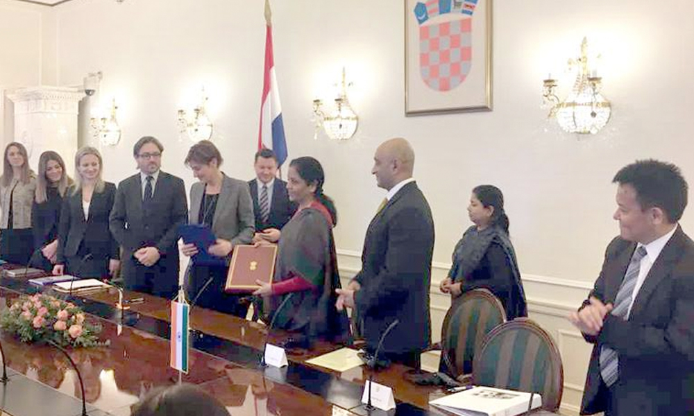 Croatia, 15th Feb.2017: Smt. Nirmala Sitharaman and the Deputy Prime Minister of Croatia, Ms. Martina Dalic signed an agreement on economic cooperation