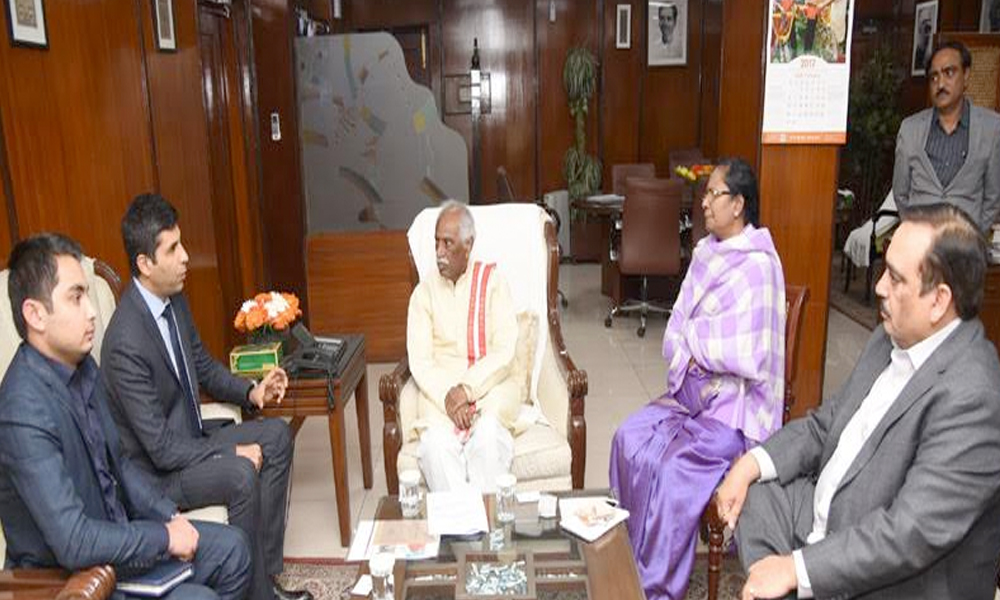 Delhi, 10th Feb.2017: Sh. Ahmed Shah Salehi meeting Shri Bandaru Dattatreya, to discuss mutual cooperation on labour and workforce welfare