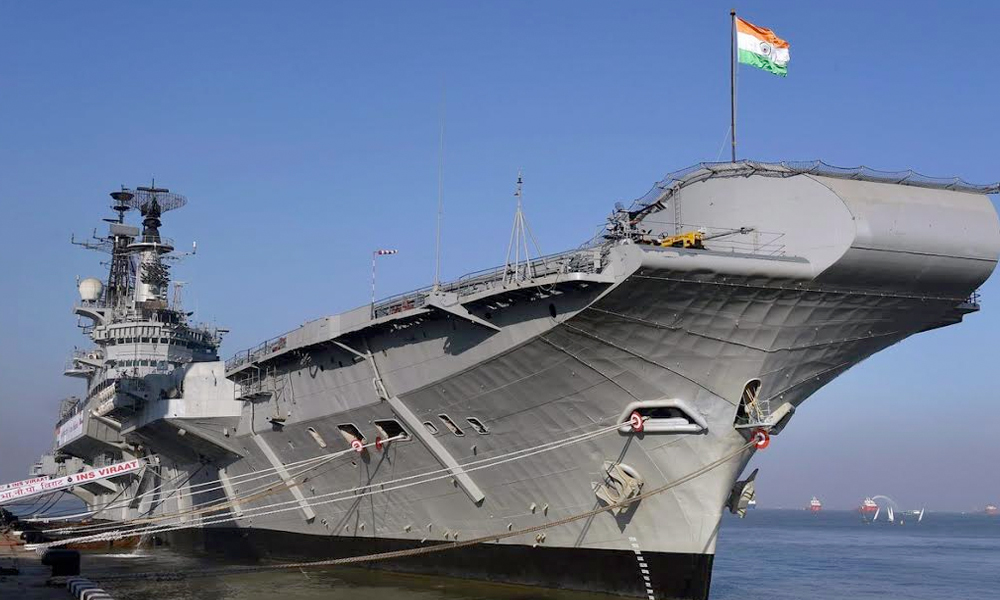 Mumbai, 7th March.2017: INS Viraat after its decommissioning ceremony at naval dockyard in Mumbai on Monday