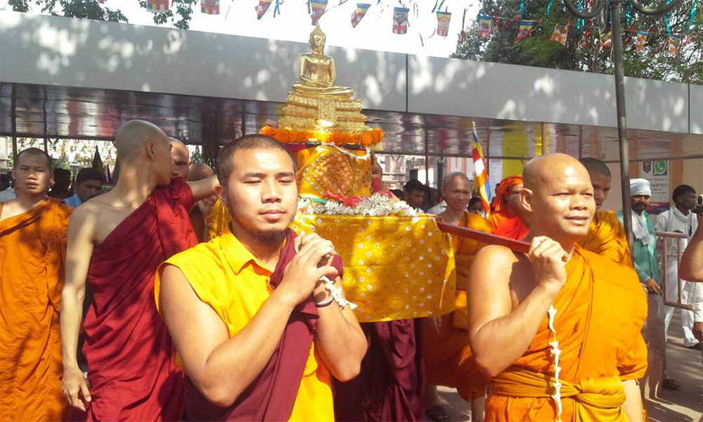 Bihar, 10th May.2017: Buddha Purnima being celeberated with enthusiasm at Mahabodhi Temple at Bodhgaya