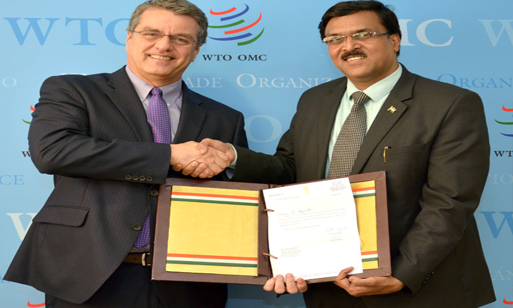 Switzerland, 7th June.2017: The Ambassador/Permanent Representative of India to the WTO, Shri J.S. Deepak presents his letter of credentials to the DG, WTO, Mr. Roberto Azevedo, in Geneva, Switzerland