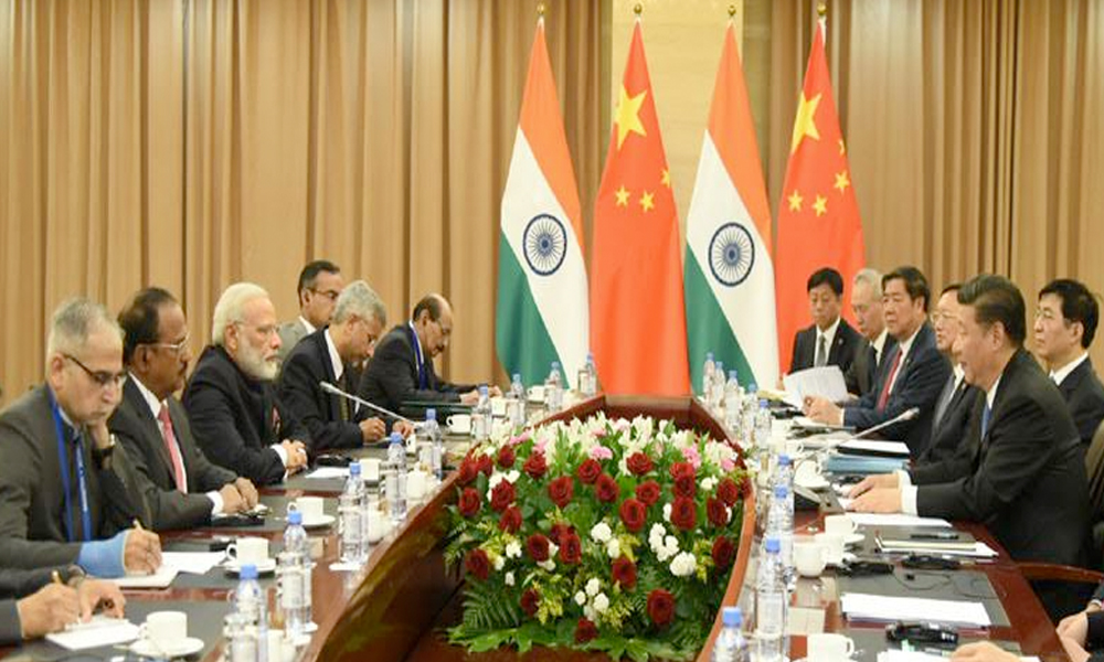 Kazakhstan, 9th June.2017: The Prime Minister, Shri Narendra Modi meeting the President of the People's Republic of China, Mr. Xi Jinping, on the sidelines of the SCO Summit, in Astana, Kazakhstan
