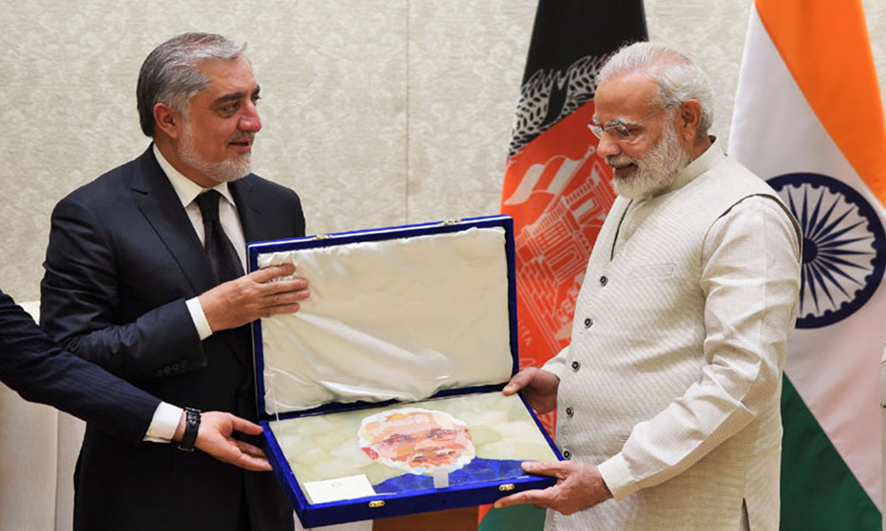 Delhi, 29th Sep.2017: The Chief Executive of Afghanistan, Mr. Abdullah Abdullah calls on the Prime Minister, Shri Narendra Modi