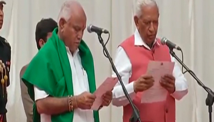 BS Yeddyurappa takes oath as CM of Karnataka