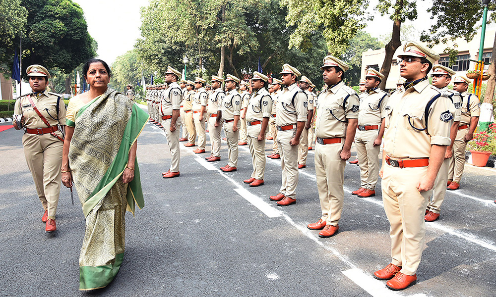 The Union Minister, Nirmala Sitharaman at the Passing Out Parade Ceremony of 69th Batch of IRS, at National Academy of Customs, Indirect Taxes and Narcotics, in Faridabad, Haryana.