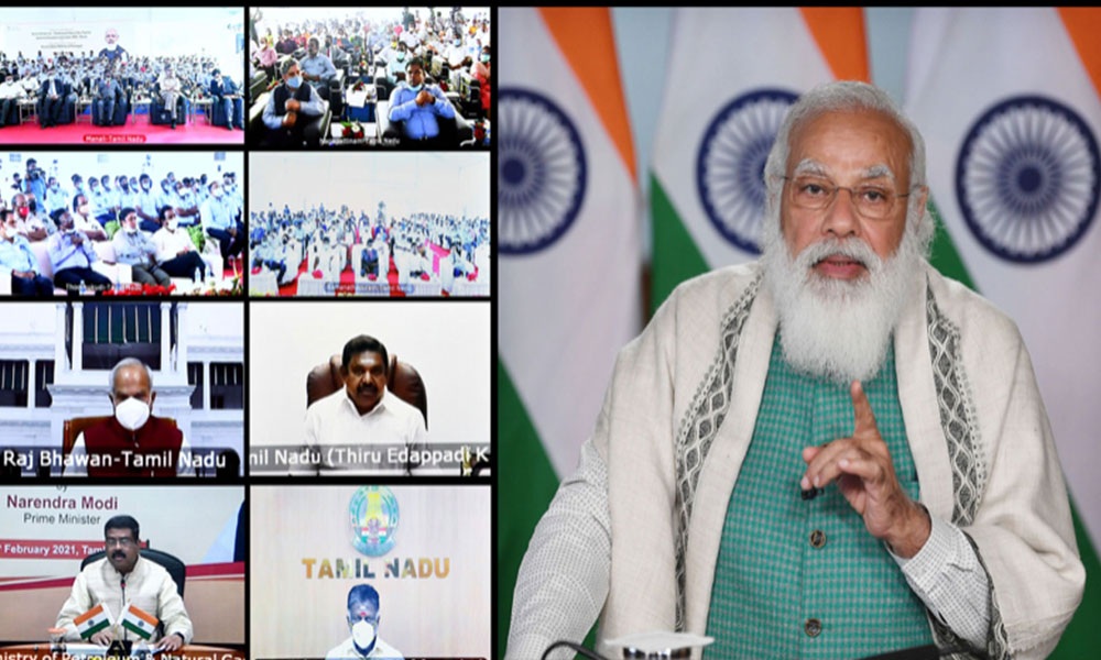 Prime Minister, Narendra Modi addressing the 66th Convocation of IIT Kharagpur, through video conferencing, in New Delhi.