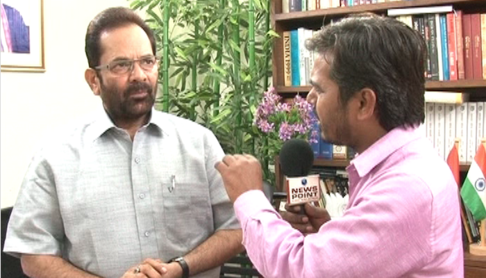 In conversation with Union Minister of State Mukhtar Abbas Naqvi