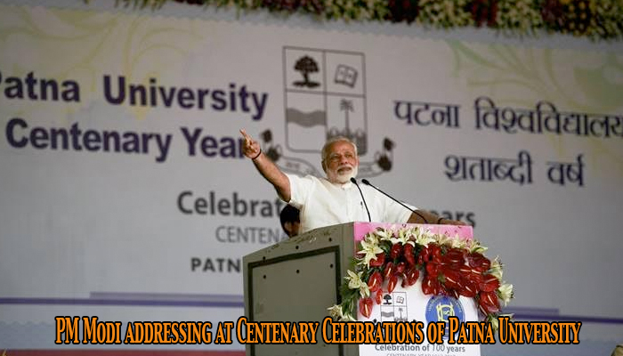 PM Modi addressing at Centenary Celebrations of Patna University in Patna, Bihar