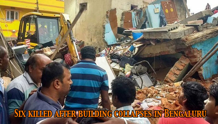 Six killed after residential building collapses in Bengaluru's Ejipura area