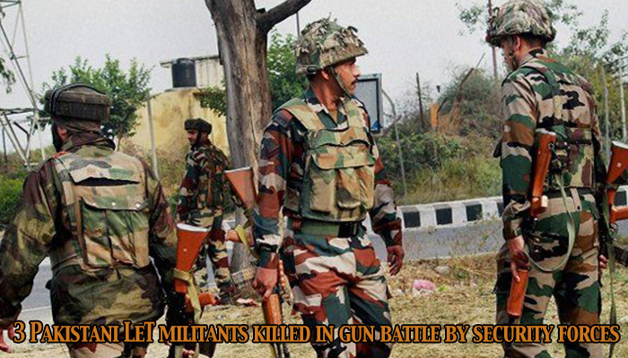 3 Pakistani LeT militants killed in gun battle by security forces in Handwara,J&K