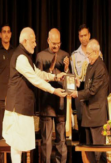 PM Modi releases a book on Selected Speeches of President Pranab Mukherjee