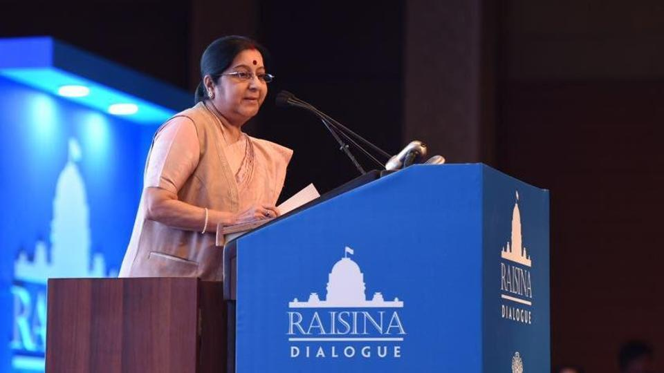 Terrorism is undeniably the mother of all disruptions: Sushma Swaraj