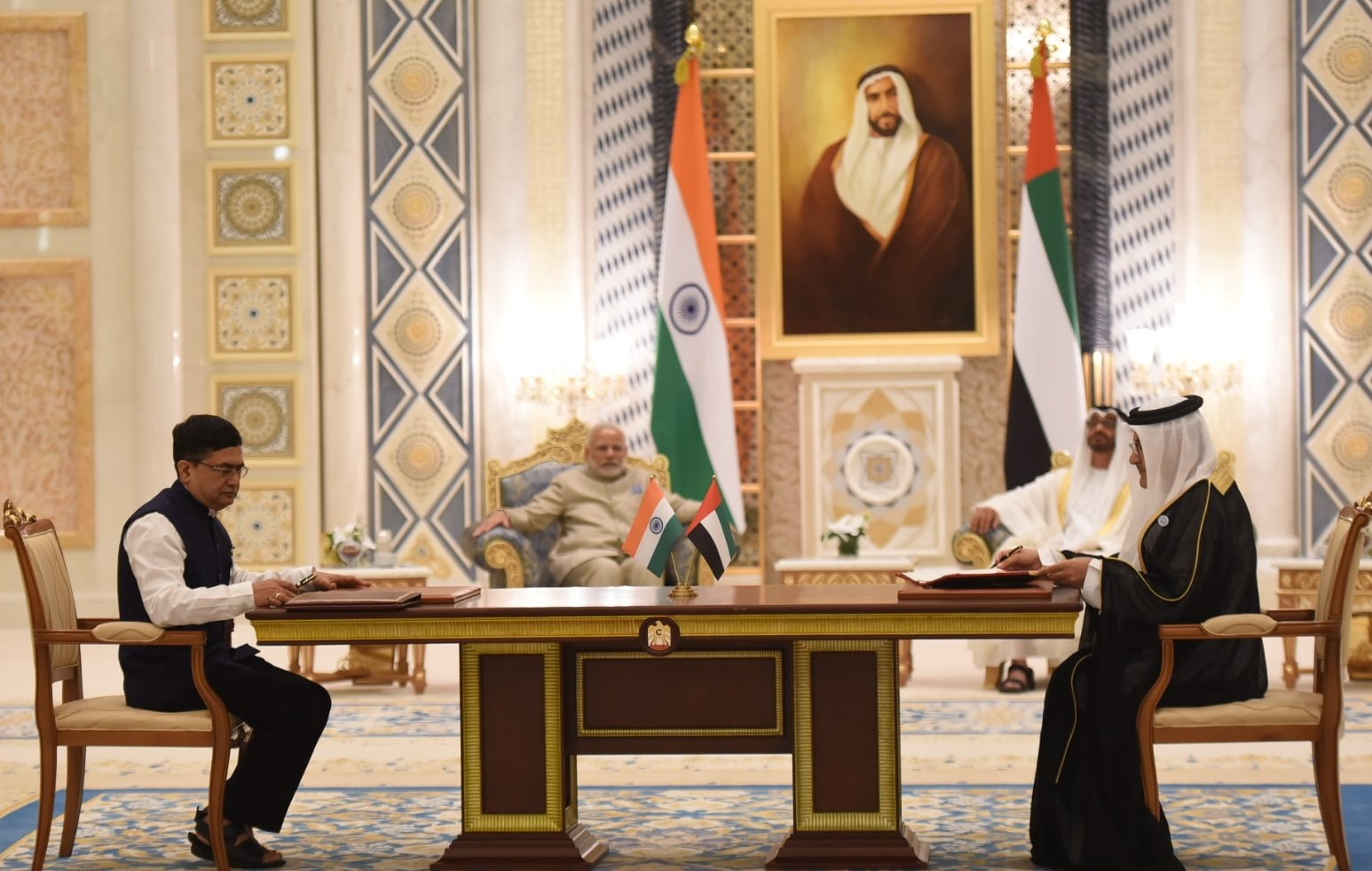 PM in Abu Dhabi: India-UAE ink five agreements