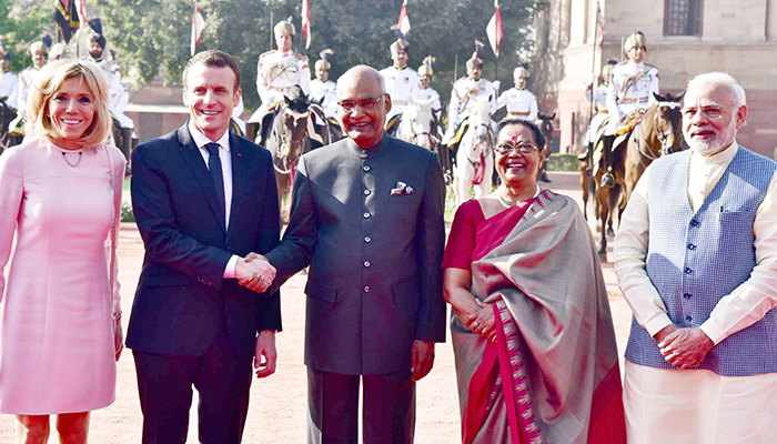 PM Narendra Modi and visiting French President to hold bilateral talks