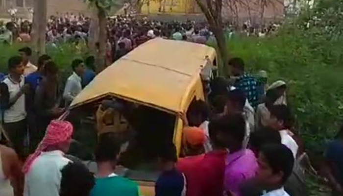 13 children killed as train hits school van in Kushinagar (UP)