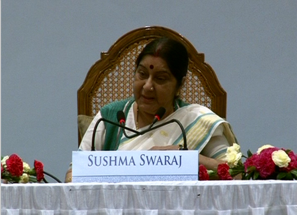Sushma Swaraj's speech at the first Pandit Deen Dayal Upadhyay Memorial International Oration