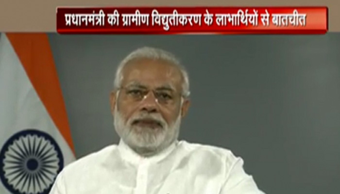 PM Modi interacts with beneficiaries of Rural Electrification and Saubhagya Schemes across the country through video bridge