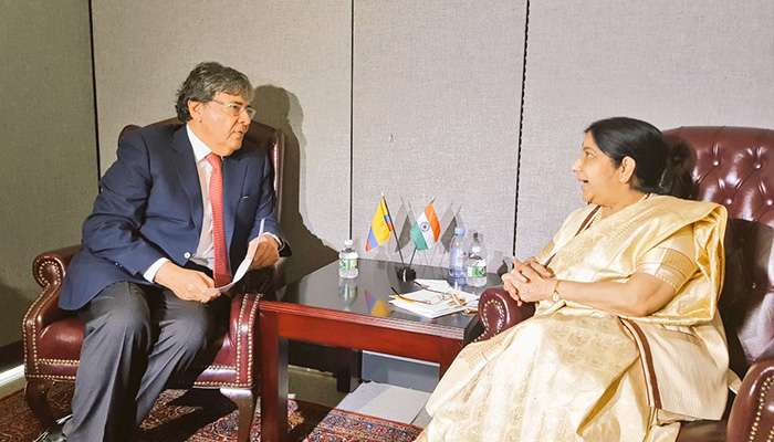 EAM Sushma Swaraj holds bilateral meetings with key foreign counterparts at UN