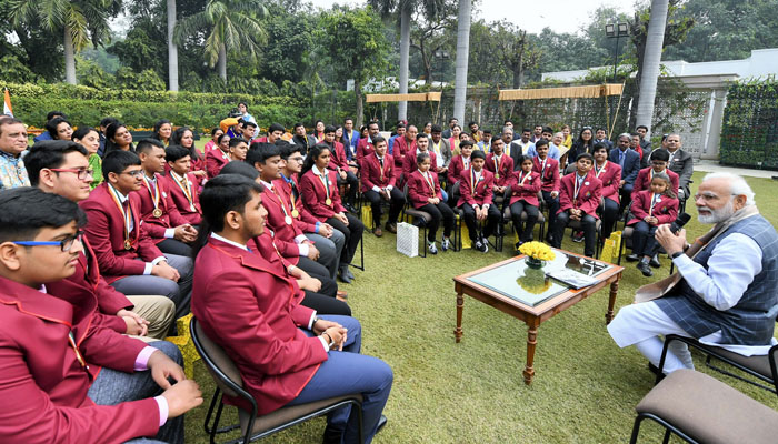 PM Modi interacts with winners of Rashtriya Bal Puraskar 2019