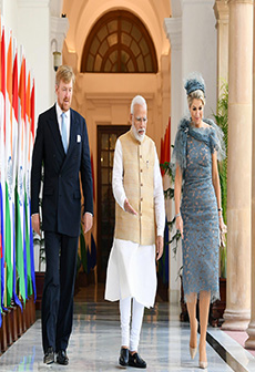 PM Modi holds meeting with Netherlands King Willem-Alexander & Queen Maxima