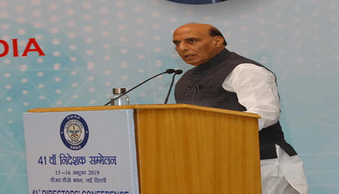 Rajnath Singh at DRDO's conference, says