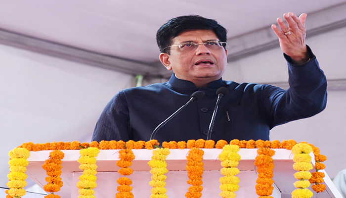 Rail Minister Piyush Goyal at the launch of 09 'Sewa Service' Trains