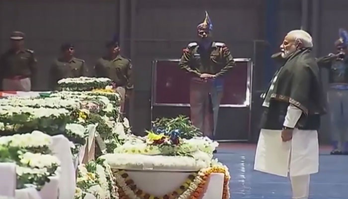 PM Narendra Modi pays tribute to martyred CRPF personnel