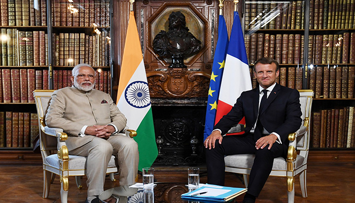 PM Modi holds talks with French Prez; India, France to expand cooperation in areas of counter terrorism, security