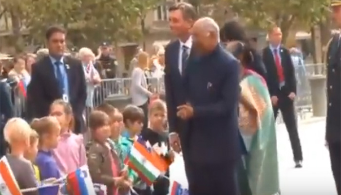 Ceremonial welcome of President Ram Nath Kovind in #Slovenia
