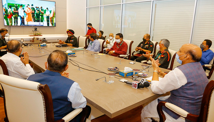 Union Defence Minister Rajnath Singh e-inaugurates six strategic bridges in Jammu & Kashmir