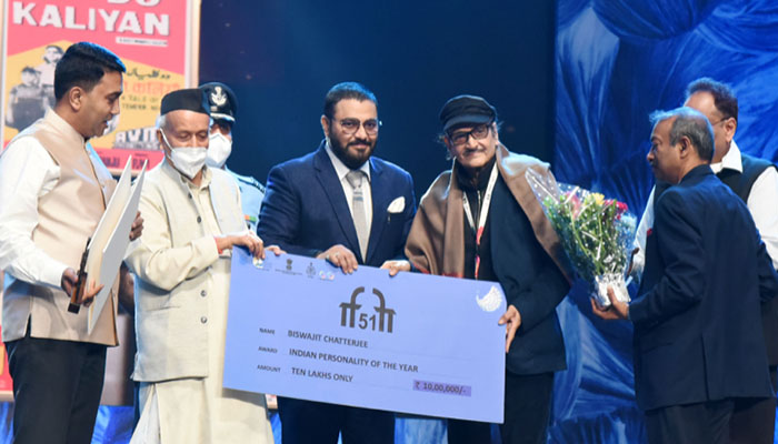 Veteran actor Biswajit Chatterjee crowned as Indian Personality of the Year at IFFI 51 Closing Ceremony